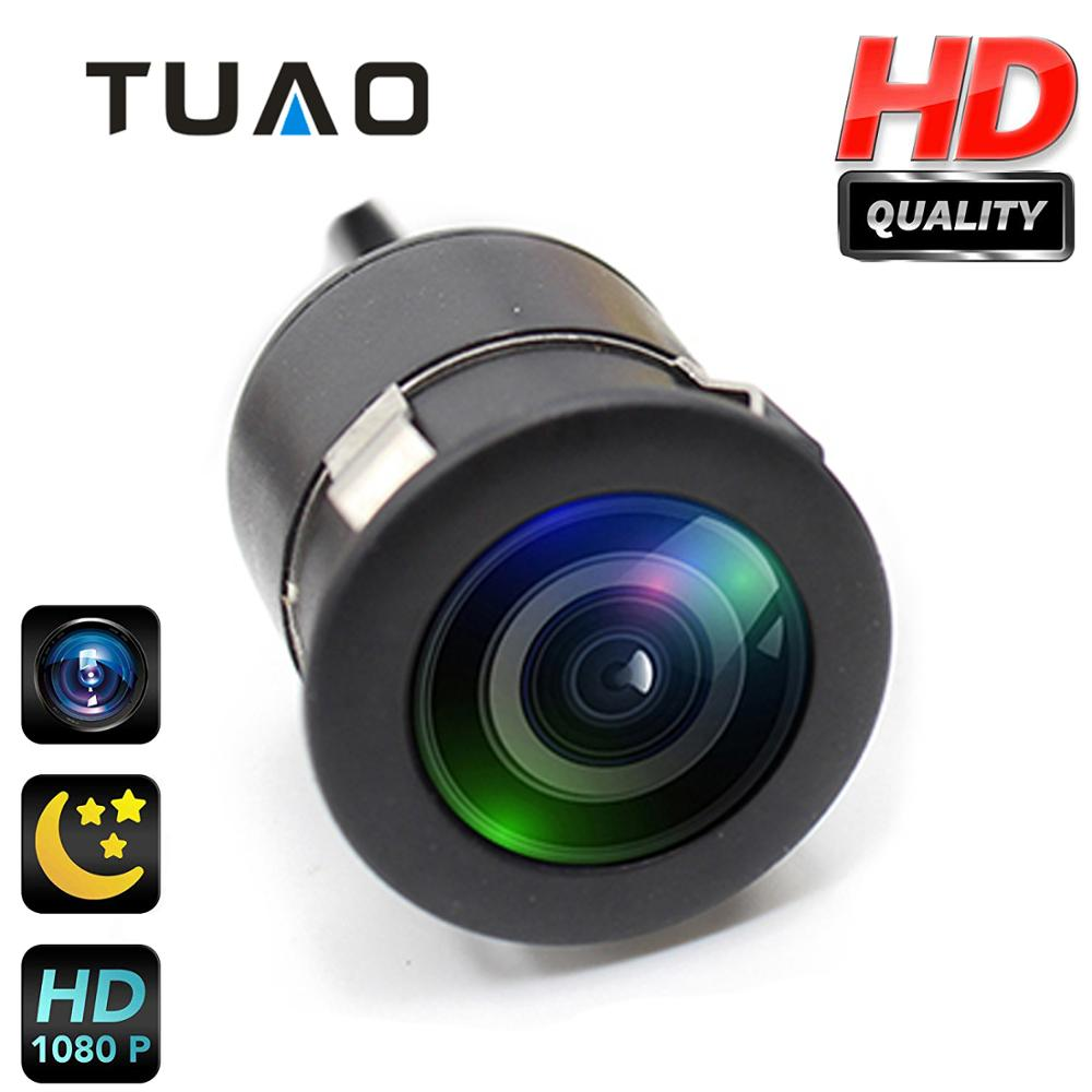 TUAO 18.5 มิลลิเมตร HD CCD Night Vision กล้องย้อนกลับ 145 มุมรถยนต์กล้องมองหลัง IP67 DC 12 ยานพาหนะกล้องกล้องที่จอดรถสากล