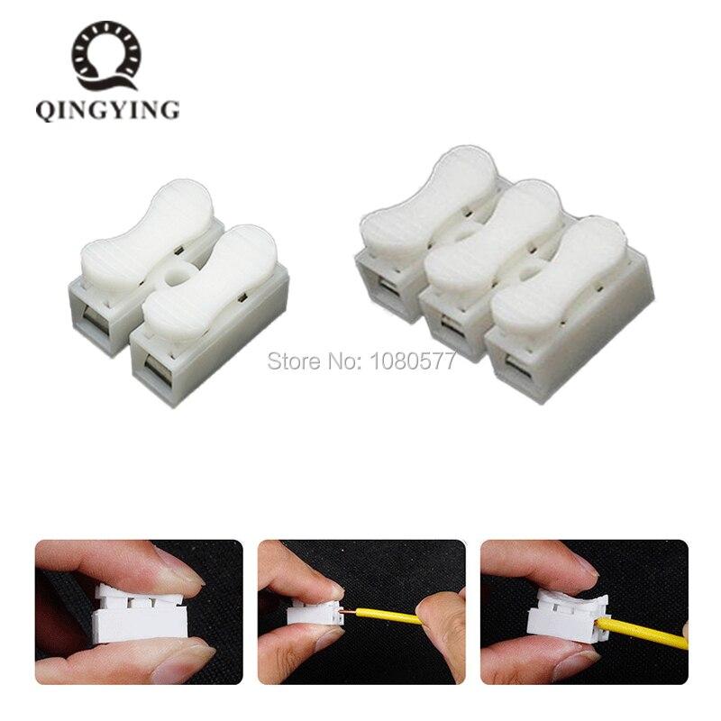2pin 3 pin Push Rapide Câble Connecteur Ignifuge Terminal Câblage Bornes 10A 250 v pour Fil de Connexion 50/ 100/200/500 pcs
