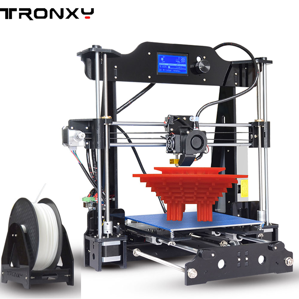 Tronxy X8 Acrylic Structure Size 220*220*180mm DIY 3D Printer Kit Double fans With 1 Roll Free Filaments 8GB SD Card As Gift tronxy acrylic p802 mts 3d printer