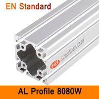 8080W Aluminium Profile EN Standard DIY Brackets Aluminium AL Extrusion CNC 3D DIY Printer Frame Square Aluminum Frame T Slot