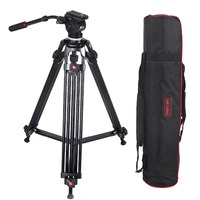 JY0508 JY 0508 JIEYANG Professional Tripod for Camera Aluminum Tripod Stand DSLR Fluid Head Damping Tripods for Video Shooting