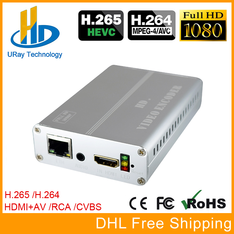 URay HEVC H.265 H.264 HDMI + CVBS AV RCA Video Streaming Encoder IPTV Encoder HD + SD Video Live Broadcast Encoder With PAL NTSC 033 0512 8 encoder disk encoder glass disk used in mfe0020b8se encoder