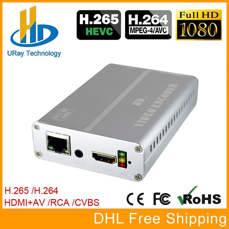URay HEVC H.265 H.264 HDMI + CVBS AV RCA Video Streaming Encoder IPTV Encoder HD + SD Video Live Broadcast Encoder With PAL NTSC hd hdmi live streaming devices h 265 encoder hardware for video streaming over 4g encoder digital camera hot shoe mount foxwey