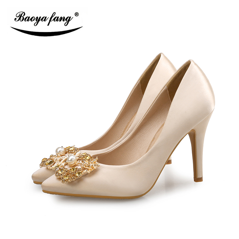 New Arrival Sexy Ladied Party Dress Shoes Womens Wedding Shoes Bride Shallow Mouth Fashion Shoes Antiskid Sole High Quality Pump