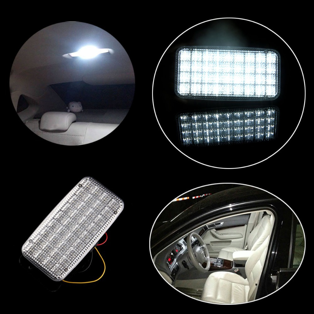 buy white 12v 36 led smd truck auto van vehicle car ceiling dome roof interior. Black Bedroom Furniture Sets. Home Design Ideas
