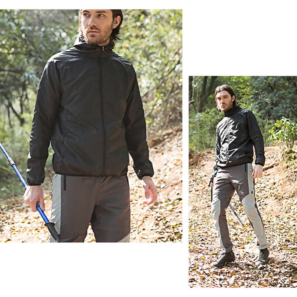 Homens ciclismo jaqueta anti-uv blusão jaquetas impermeáveis para escalada pesca caminhadas correndo ao ar livre casaco de chuva longo