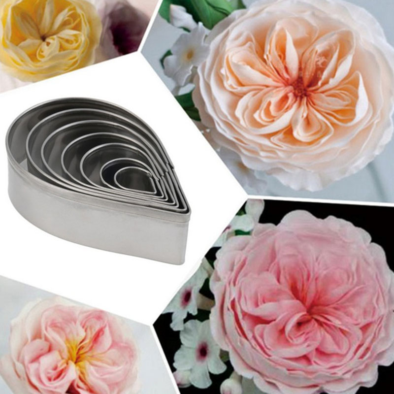 Cake Mold Pastry Baking Mould 7Pcs/Set Drop Shape Cake Cookie Cutter Molds Kitchen Accessories Stainless Steel DIY Tool