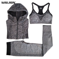 MAIJION Women Quick Dry Running Sets Absorb Sweat Sports Bra Pants Jacket Gym Fitness Sport Yoga