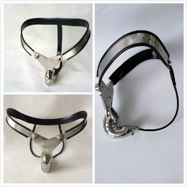 Stainless steel male T  chastity belt  Male Cage Device  Big Chastity CB6000 Penis Bondage Penis Ring
