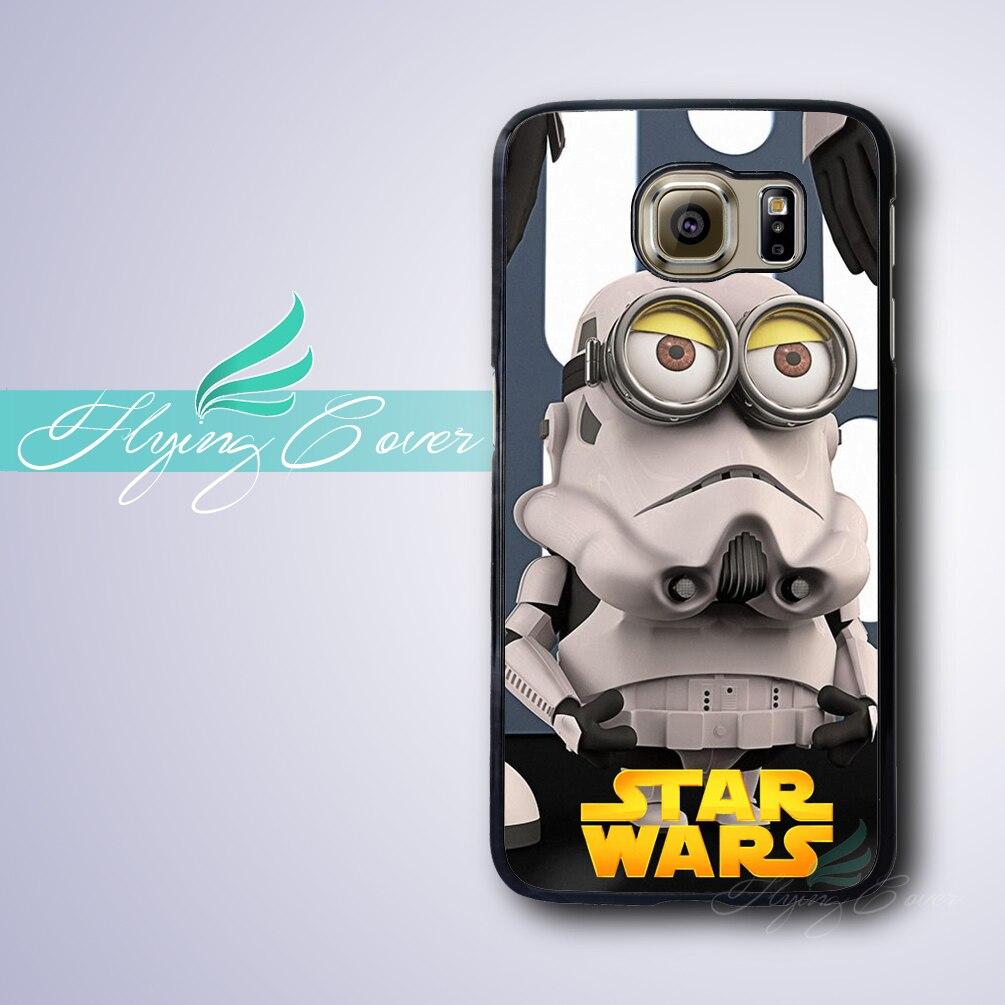 Coque Drôle Star Wars Capa Téléphone Cas pour Samsung Galaxy S8 S3 S4 S5 S6 S7 Bord Plus Cas pour Samsung Galaxy Note 8 5 4 3 Couverture