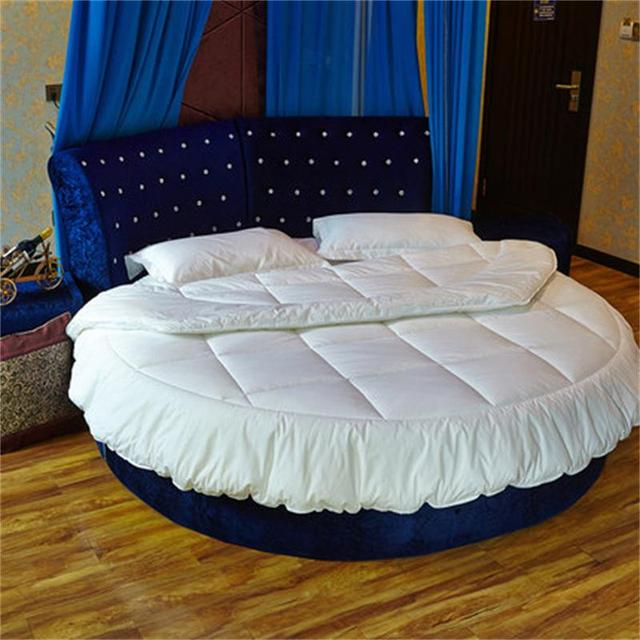 Custom Round Bed Mattress Core The Hotel Professional Quilting Can Be Washed Without Deformation