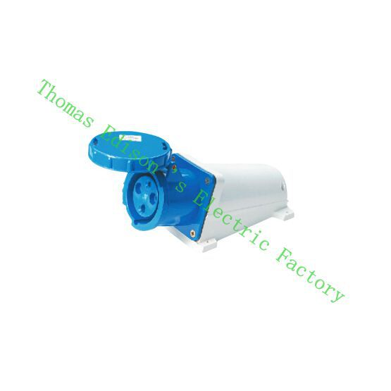Industrial Socket Plug Coupler 133 CNQD-133 Blue 63A 220V~415V 2P+E 3pin 10PCS/carton 125a 220v 2p e industrial male plug 3pins with ce rohs 1 year warranty