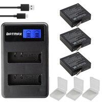 Batmax 3Pcs Xiaomi Yi 4K II 1400mAh Battery And LCD Dual USB Charger For XiaoYi 4K