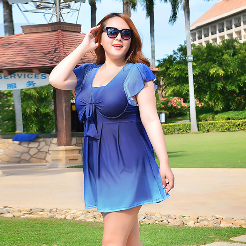 Sunny eva Swimwear large sizes swimming dress for woman swimsuit one piece womens swimwe ...