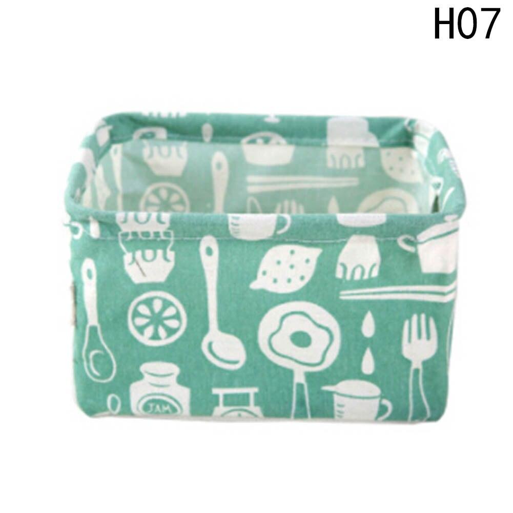 New Cartoon Toy Cosmetic Storage box Cotton Linen Desktop Waterproof Kids Storage Basket Organizer makeup Storage Bag