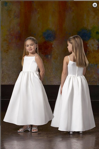 2016 Button Actual Images Satin Limited   Girls  ' Formal Occasion Weddings   Girl's   Pageant Gowns Junior Costume   Flower     Girl     Dresses