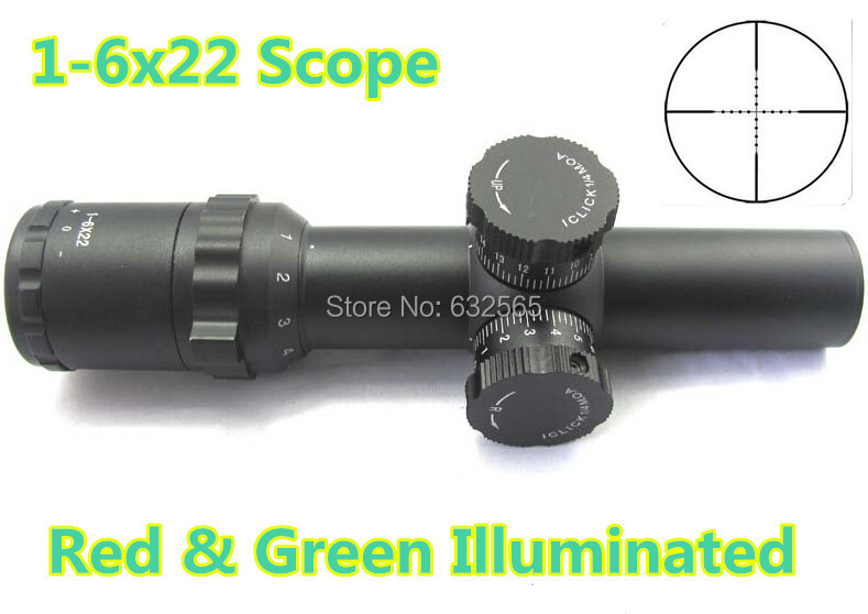 Free Shipping Tactical 1-6x22 Side Wheel Illuminated Optical Rifle Scope with side mounted red laser/ red dot rifle scope 2017 new 1 6 1 6 12 action figures g43 sinper rifle tactical gun christmas gift free shipping boy toy birthday present