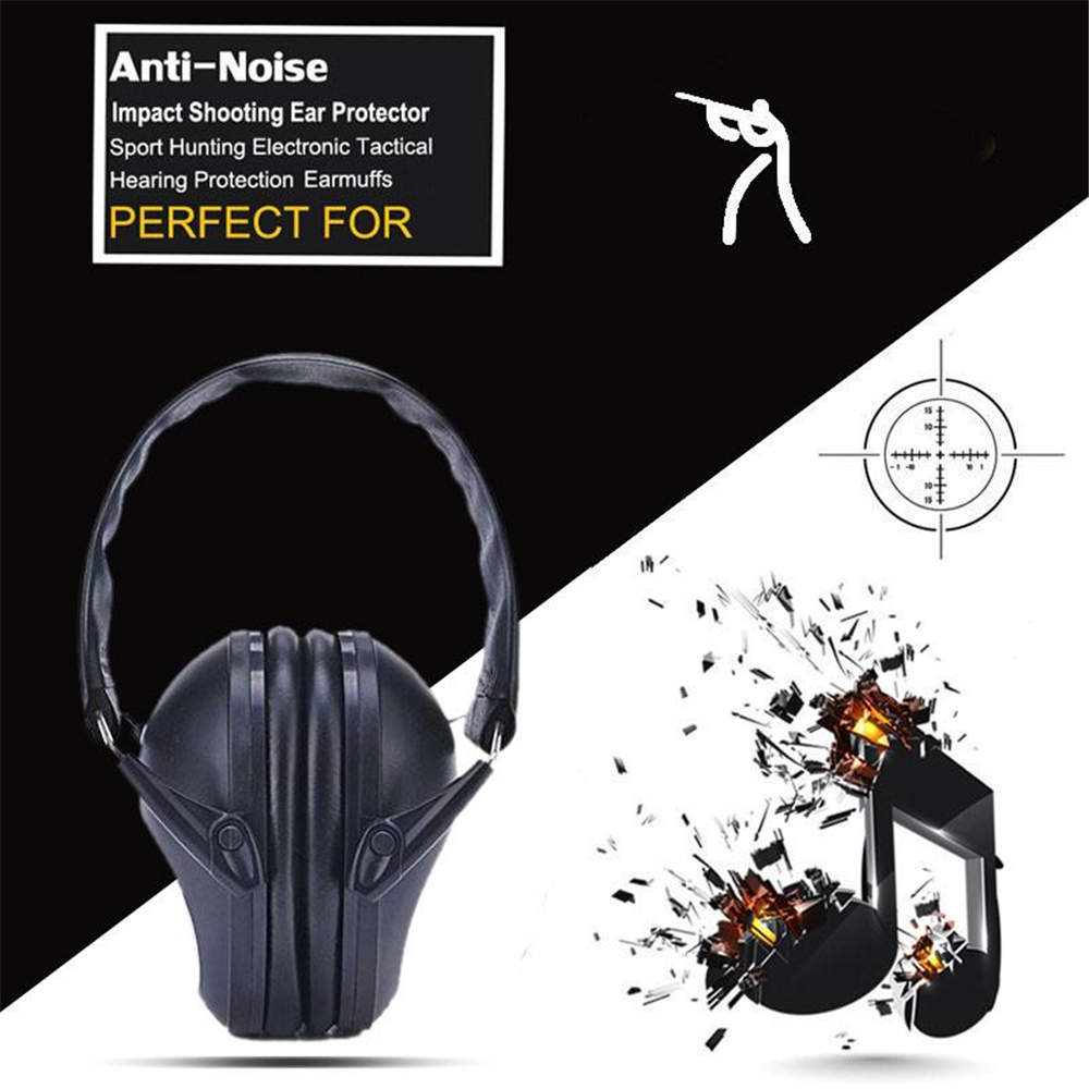 Outdoor Anti-Noise Shooting Hunting Hearing Ear Protector Soundproof Earmuff Soundproof Earphone Ear muff Headphone aa shield soundproofing mini ear muff shooting hearing protector noise reduction tools 25 8db color od reduce db free shipping