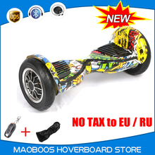 No tax 10 inch steering wheel electric Hoverboard Motorized Ault big tire scooter overboard oxboard skywalker drift Hover boatd