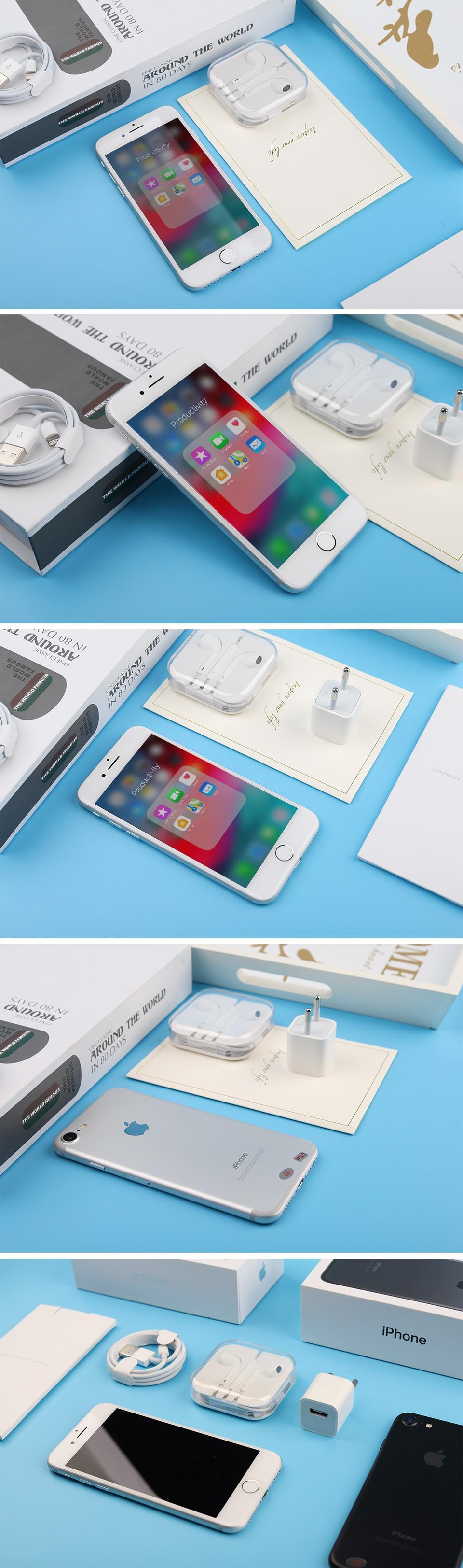 Разблокированный смартфон Apple iPhone 7 4G LTE 4,7 дюймов Apple A10 IOS 12,0 МП камера отпечатков пальцев 32 ГБ/128 ГБ/256 ГБ rom смартфоны