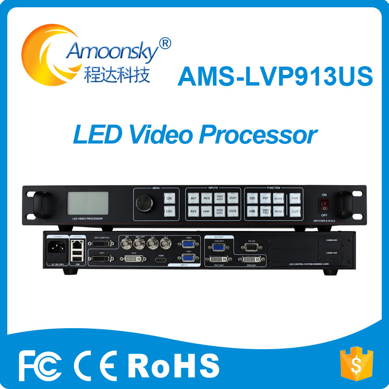 latest style outdoor smd led display LVP913US led video seamless switcher business sign video processor add sdi usb for absen free shipping sdi video processor ams lvp613s led video wall controller seamless switching video controller magnimage led 540c