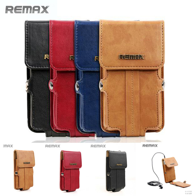 5.5 polegada malote do telefone celular universal remax pedestre series multi pu carteira de couro case belt clip holster saco single-ombro saco