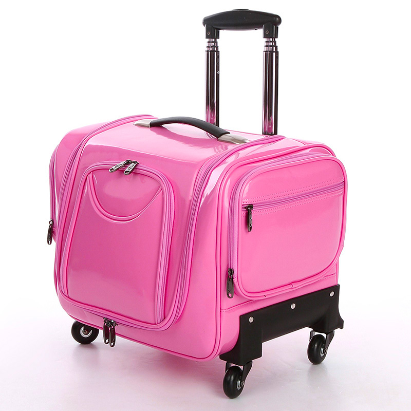 Letrend Crocodile Rolling Luggage Spinner Women Cosmetic Case Multi Function Trolley Carry On Suitcases Wheel Cabin Travel Bag In From