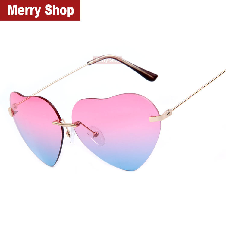 2014 New Big Love Shape Reflective Heart Sunglasses Brand ...