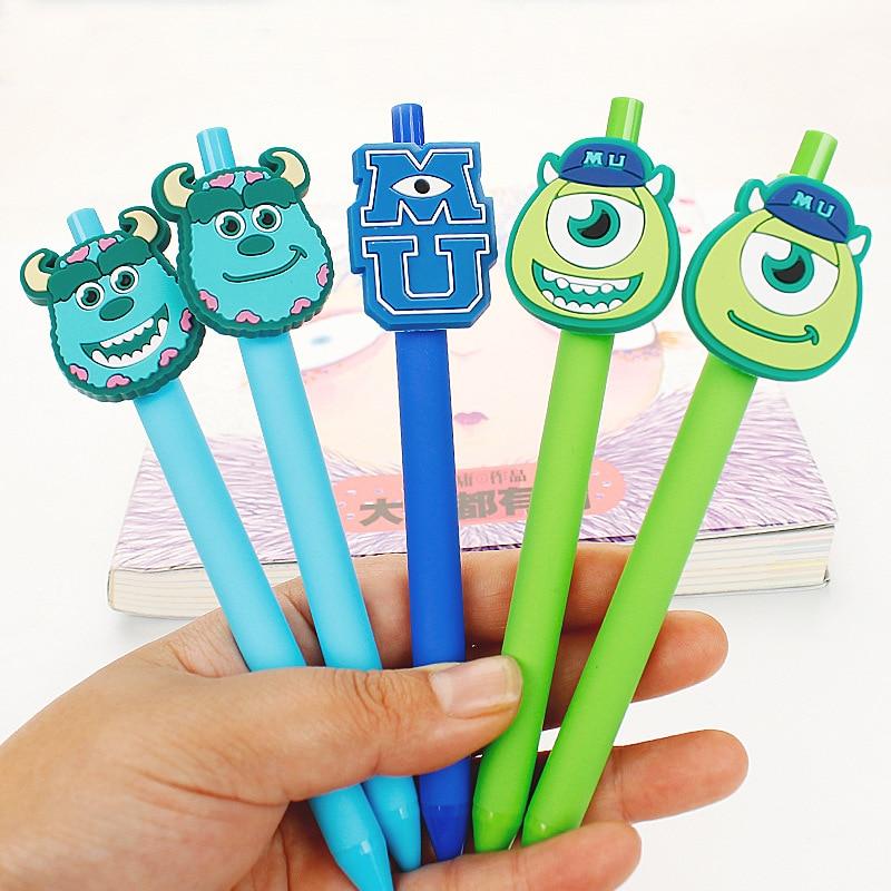 5 pcs/set New Gel Pen Kawaii Gel Pen 0.5mm Black ink Candy color Pens Gift for kids escritorio Papelaria Monsters University recette merveilleuse ultra eye contour gel by stendhal for women 0 5 oz gel