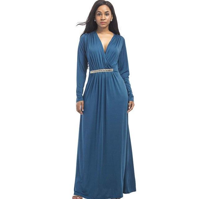 8c7676612c7d Women Summer New Best Sellers New Pattern Fat Linen Dress Long Sleeve Split  Joint Enlarge Deep Code V Lead Fertilizer Po Dress