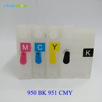 4X Refillable Ink Cartridge For Hp950 Hp951 For HP Officejet Pro 8100 8600