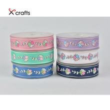 PPCrafts 25mm Printed Floret pattern Grosgrain Ribbon DIY Hair Bow Accessories Handmade Materials Wedding Gift Wrap