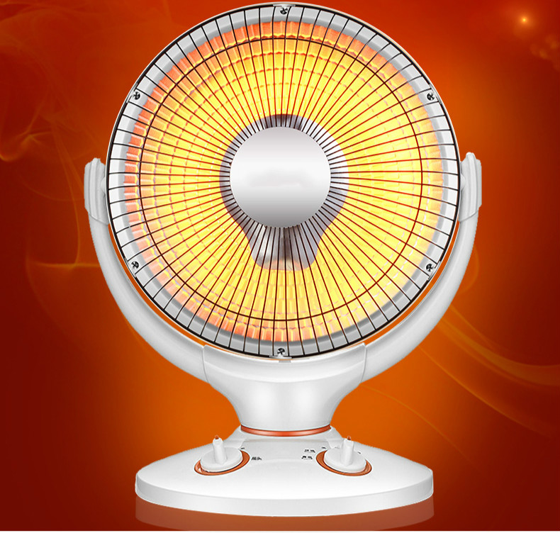 desktop office of the home small sun heater is to shake stove and thermostat