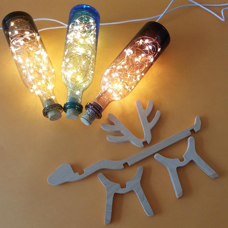 Luzes da Noite nórdico veados madeira garrafa de Led Lighting : Night Lighting