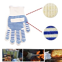 Heat Proof Resistant Cooking Kitchen Oven Mitt Glove For 540F Hot Surface al1