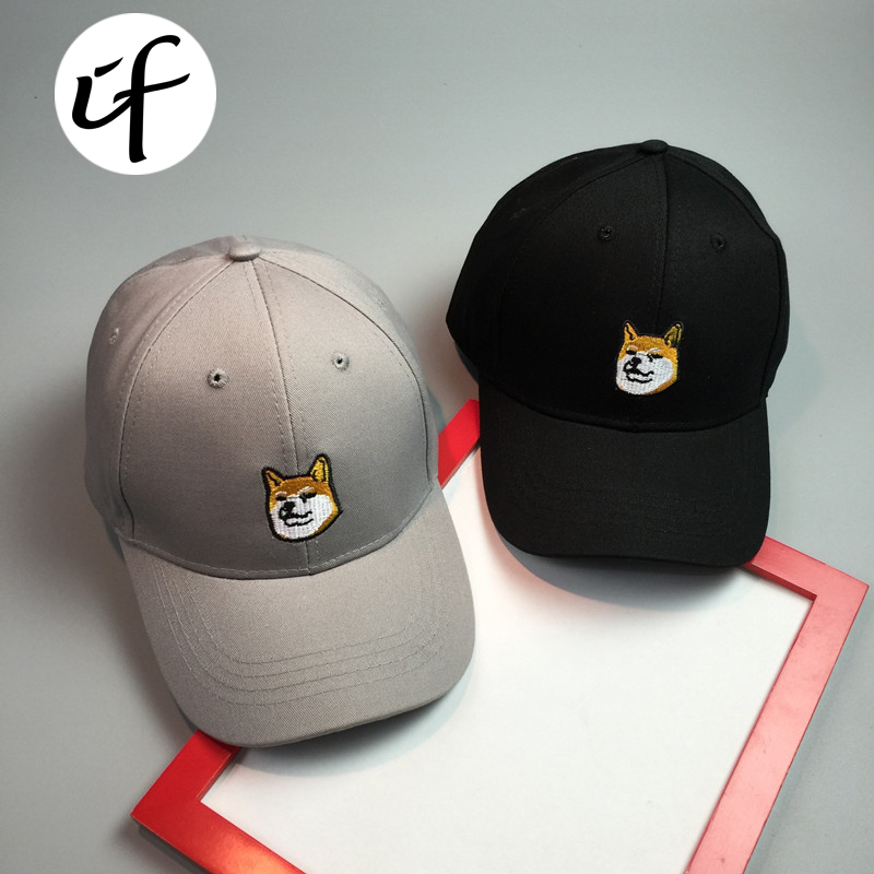 New Cartoon Dog Baseball Cap Cute Dad Bone Sun Hat For Men Women Hip Hop Drake Polo Hats SNAPBACK Solid Cap Gorras Casquette new drake hat ovo women baseball cap men snapback caps brand bone hats for women casquette golf sun hat gorras baketball men cap