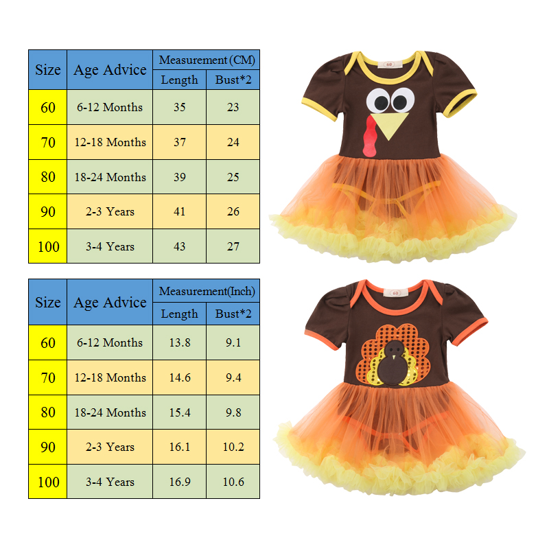 0be4ee6e0697 S-452 Girl s Thanksgiving Short Sleeve Lace Romper Dress Size 12M-4T ...
