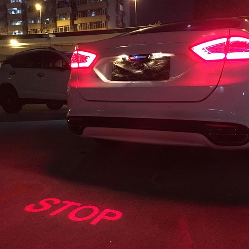 Auto Anti-fog Parkplatz Stop Brems Signal Indikatoren Auto Anti-kollision Laser Nebel Licht Motorrad LED Warnung Licht auto-Styling