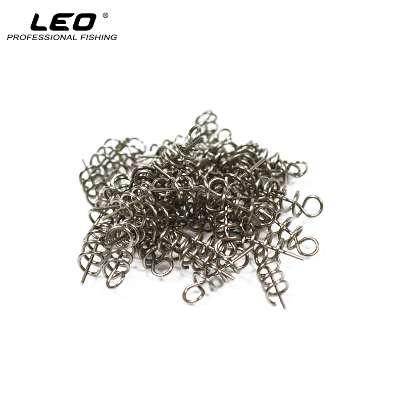50Pcs 14mm Stainless Steel Soft Bait Lure Spring Lock Pin Crank Hook Connector Fixed Latch Fishing Accessories wldslure 1pc 54g minnow sea fishing crankbait bass hard bait tuna lures wobbler trolling lure treble hook