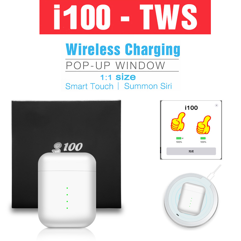 TWS i100 originais controle de Toque Sem Fio Bluetooth 5.0 Fones De Ouvido esporte Fone De Ouvido Com Cancelamento de Ruído Gaming Headset binaural call