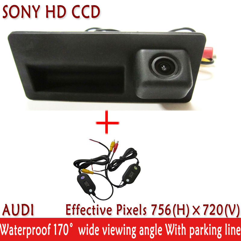 LED WIFI <font><b>camera</b></font> Handle SONY HD CCD Car Rear View <font><b>Camera</b></font> Parking Assistance system Reverse <font><b>Camera</b></font> for <font><b>Audi</b></font> A4 <font><b>A6</b></font> A8L S5 Q3 Q5 image
