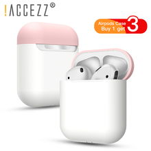 !ACCEZZ Silicone Bluetooth Wireless Earphone Case For Airpods Protective Cover Skin Accessories Anti-Dust Airpod Charge Box