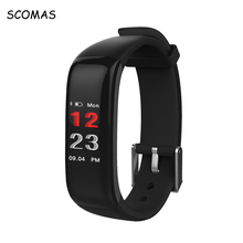 SCOMAS P1 Plus Color Display Heart Rate Monitor Blood Pressure Smart Watches Fitness Bracelet Activity Tracker Smart Wristband