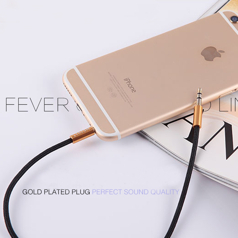 MEIYI 3.5 mm Jack Aux Audio Cable Male to Male Car Aux Cable Gold Plated Auxiliary Cable for Car / iPhones / Media Players 10