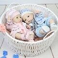 2016 Gêmeos 16 Polegada de Vinil Silicone Cheio Realista Boneca Reborn Bebês Recém-nascidos Menino E Menina Crianças Presente de Natal Aniversário