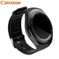 Black Smart Watch Y1 Bluetooth Smartwatch Relogio Invicta 2G GSM SIM Camera App Sync For IPhone