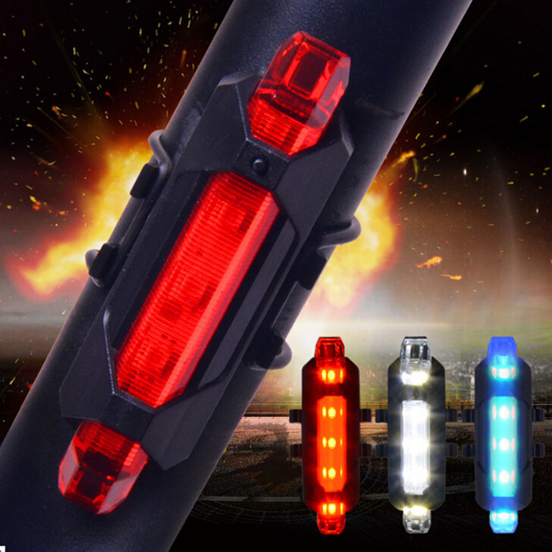 LED Bicycle Cycling Tail USB Rechargeable <font><b>Red</b></font> Warning <font><b>Light</b></font> <font><b>Bike</b></font> Rear Safety <font><b>Light</b></font> Color Blue <font><b>Red</b></font> <font><b>White</b></font> image