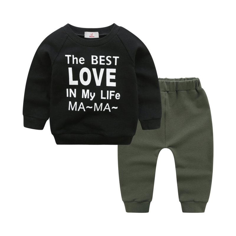 Two-Pieces Popular Baby Boys Set with Long Sleeve And Cotton Material Comfortable For Dressing In Spring