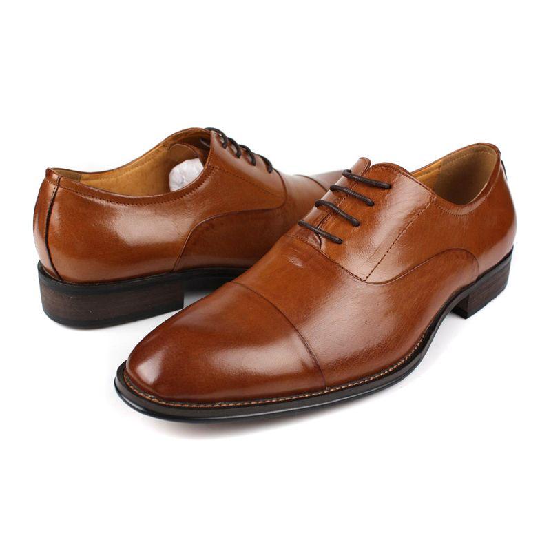 Itália Homens do Projeto Do Vestido de Casamento Sapatos de Couro Genuíno Homem Calçado Clássico Apontou Toe Sapatos de Negócios Formais New Oxford Chaussure - 3