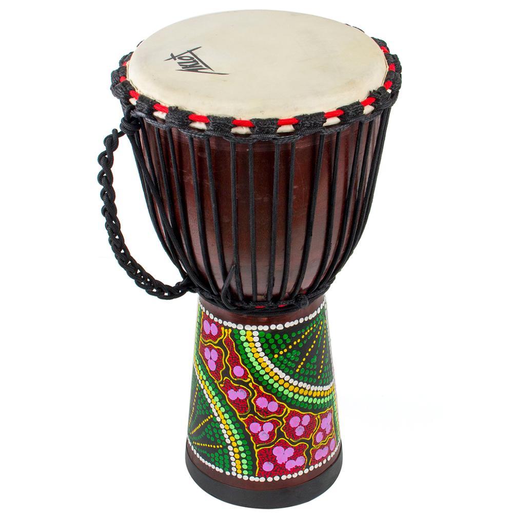 AKLOT djembé tambour à main africain percussions acajou Standard 10 pouces peau de chèvre tête de tambour